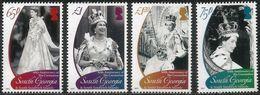2013 South Georgia QEII Coronation Anniversity Royalty  Complete Set Of  4 MNH @FACE - Géorgie Du Sud