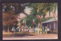 CPA Nouvelle Calédonie Non Circulé VOH Départ De Volontaires Pour La Guerre - New Caledonia