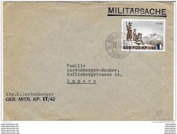 "9-76 - Enveloppe 2ème Guerre Mondiale ""Geb Füs Kp I/45"" Feldpost - Documenti"