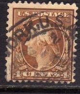 USA STATI UNITI 1908 1909 PRESIDENT GEORGE WASHINGTON PRESIDENTE CENT. 10c USED USATO OBLITERE' - Gebraucht