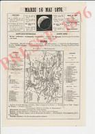 Carte Géographique 1886 Eure Chemin De Fer Vernon Gaillon Bueil Romilly Serquigny Coffres-Forts Untersteller 231CH18 - Non Classés