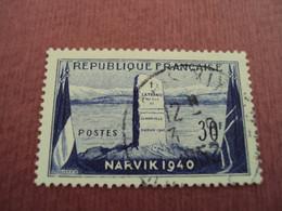"""1952  - Timbre Oblitéré N°  922   """" Monument NARVIK 1940 """"         Net    1.50 - Frankreich"""