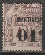 Martinique N° 8 * Surcharge Très Déplacée - Nuovi