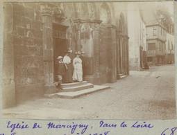 Église De Marcigny (Saône-et-Loire). 1908. Album De L'historien Gérard De Beauregard. - Luoghi