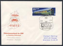 DDR Germany 1977 Brief Cover - VEB Waggonbau Niesky (Christoph & Unmack) - Philatelistenverban DDR - Trains