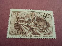 """1936   - Timbre Oblitéré N°    315 """"  Marseillaise De Rude  """"   """"Sables D'olonne""""      Net      1.50 - Frankreich"""