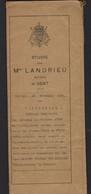AKTE NOTARIS LANDRIEU * GENT * 1924 * VERKOOP * A. BATAILLE / J. DE MUELENAERE   RYSSELEDE - R V MEIRHAEGHE ZINGEM * - Gent