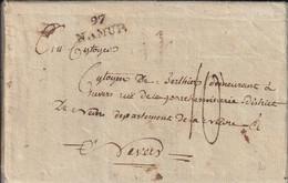 Département Conquis Marque Postale Avec Correspondance  97 / NAMUR An 4 - 1792-1815: Départements Conquis