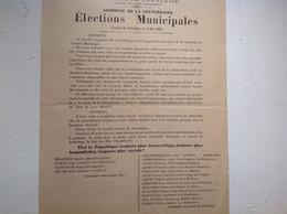 La Souterraine élections Municipales 1904 - Old Paper