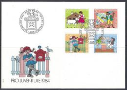 Yv 1213/16 Pro Juventute 1984 ,F.D.C. Personnages De Livres D'enfants - FDC