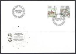 Yv 1217/18 F.D.C. Série Courante,signes Du Zodiaque Et Paysages - FDC
