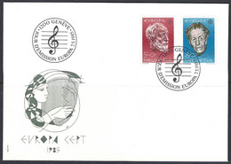 Yv 1223/24 F.D.C. Europa 1985, Musique - FDC