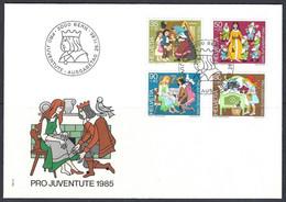 Yv 1233/36 F.D.C. Pro Juventute 1985 , Scénes De Contes Des Fréres Grimm - FDC