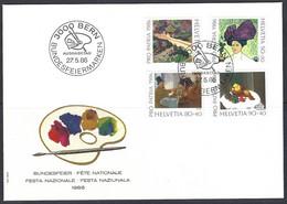Yv F.D.1246/9  Pro Patria 1986, Tableaux Des Musées  Suisses - FDC