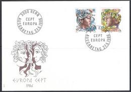 Yv  F.D.C. 1244/45 Europa 1986, Protection De La Nature - FDC