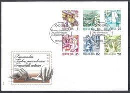 Yv F.D.C. 1250/55 Série Courante,le Transport Postal - FDC