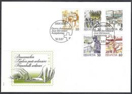 Yv F.D.C. 1264/68 Série Courante,le Transport Postal - FDC