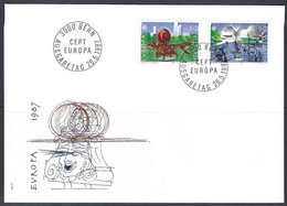 Yv  F.D.C. 1274/75 Europa 1987, Architecture Moderne - FDC