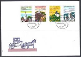 Yv F.D.C. 1280/83 Tourisme En Suisse - FDC