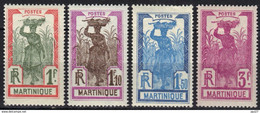 Martinique N° 125, 126, 127, 128 * - Nuovi