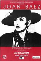 SPECTACLE ARTISTE MUSIQUE CHANTEUSE JOAN BAEZ AU STADIUM 1990 - Artiesten