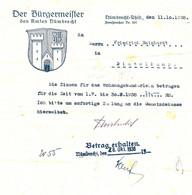"""Nümbrecht Krs Gummersbach 1938 Deko Rechnung """" Zinsberechnung Für Wohnungsbaudarlehen Distelkamp  """" - Banco & Caja De Ahorros"""