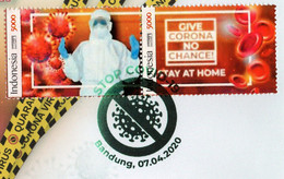 INDONESIA PANDEMIC GLOBAL 2020 FDC  WORLD HEALTH DAY FIGHT THE VIRUS-COVID-19 - Indonesia