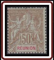 Réunion 1892-1901 - N° 50 (YT) N° 50 (AM) Neuf *. - Nuevos