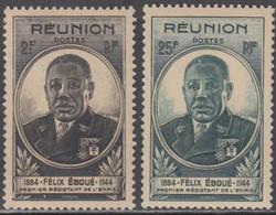 Réunion 1907-1947 - N° 260 & 261 (YT) N° 267 & 268 (AM) Neufs **. - Nuevos