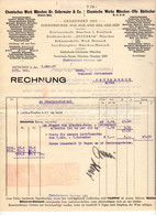 "München 1927 Deko Rechnung "" Chemische Fabriken Dr.Ostermaier&Co + Otto Bärlocher Säuren Öle Alle Chemikalien "" - Électricité & Gaz"
