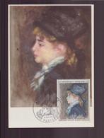 """France, Carte Maximum Du 9 Novembre 1968 à Paris """" Auguste Renoir """" - 1960-69"""