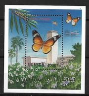 UGANDA 2000  BUTTERFLIES MNH - Butterflies