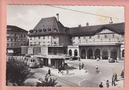 OUDE FOTO POSTKAART ZWITSERLAND - SVIZZERA -  FRIBOURG - TRAM LA GARE - STATION - FR Freiburg
