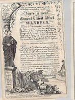 30 09/10//  ° LEDE 1840??    + 1862   EDMOND WANDELS    LITHO  HEMELSOET - Godsdienst & Esoterisme