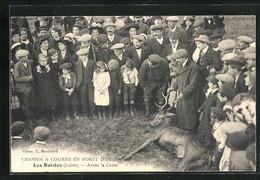 CPA Les Bordes, Chasses à Courre En Forêt D`Orleans, Avant La Curée - Orleans