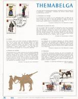 Exemplaire N°001 Feuillet Tirage Limité 500 Exemplaires Frappe Or Fin 23 Carats 1789 à 1794 Themabelga - Velletjes