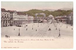 PIEMONTE - TORINO - PIAZZA VITTORIO EMANUELE I E CHIESA DELLA GRAN MADRE DI DIO - CARTOLINA - NON VIAGGIATA - - Places