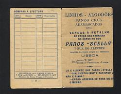 Livrinho Publicidade Loja PANOS STELA Rua Do Alecrim LISBOA (16 Paginas P/inventario De Roupa) PORTUGAL - Advertising