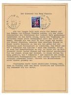 Luxembourg - Luxemburg  -  Timbres  1966  CARITAS  DER SCHWARZE VON BURG VIANDEN-  Format 17x 21,50 - Blocs & Hojas