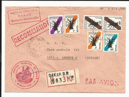 Sénégal Timbres De Service Officiel Sur Lettre Recommandée Avion De Dakar Pour La Suisse,arbre Baobab, Médecine, 1978 - Senegal (1960-...)