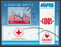 ITALIA 2015 Giornata Mondiale Del Donatore Di Sangue Usato - 2011-...: Usados