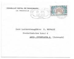(Z11) Y&T 1529 SEUL - LETTRE LA ROCHELLE => DANEMARK 1967 - TARIF 1-20 GRS DU 18/01/1965 - Covers & Documents
