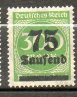 ALLEMAGNE  75t Sur 300m 1923 N° 262 - Neufs