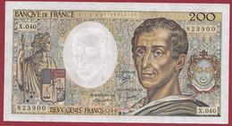 """200 Francs """"Montesquieu"""" 1986-----ALPH.X.040---DANS L ETAT--AUCUN TROU D EPINGLE - 200 F 1981-1994 ''Montesquieu''"""