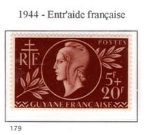 Ex Colonie Française  *  Guyane  *  Poste  179  N** - Guyane Française (1886-1949)