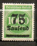 ALLEMAGNE  75t Sur 1000m 1923 N° 264 - Neufs
