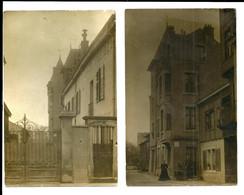 2 Cartes Postales Photos De Nancy - Vue D'une Maison Société Famille BLEIBEL - Généalogie 1911- 6 Scans - Nancy