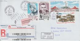 TAAF Lettre Recommandée 2014 Pour La France Cachet Ile Tromelin-Iles éparses - Covers & Documents