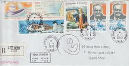 TAAF Lettre Recommandée 2013 Pour La France Cachet Ile Juan De Nova-Iles éparses - Cartas