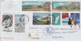 TAAF Lettre Recommandée 2012 Pour La France Cachet Ile Juan De Nova-Iles éparses - Cartas